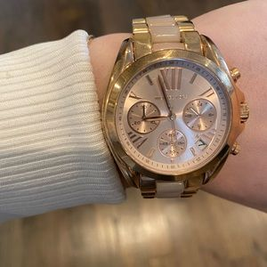 Michael Kors gold and rose gold watch